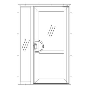 Dörr med sidoljus