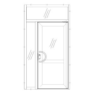 Dörr med sidoljus & överljus